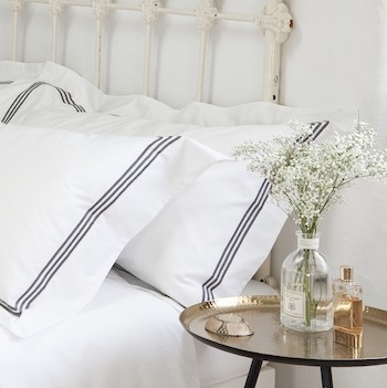 King oxford pillowcase white & mink Elba