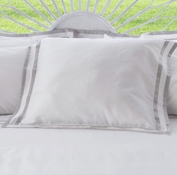 Euro oxford pillowcase white & ash Formentera