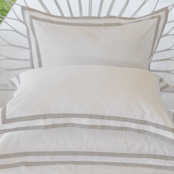 Standard Oxford pillowcase white & ash Formentera