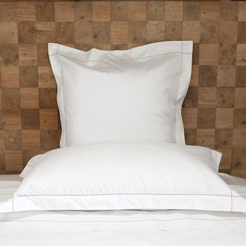 King oxford pillowcase white & caramel Tremiti