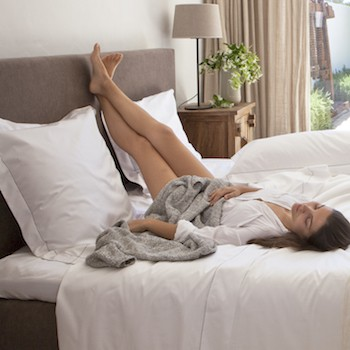 Euro oxford pillowcase white & stone Tremiti
