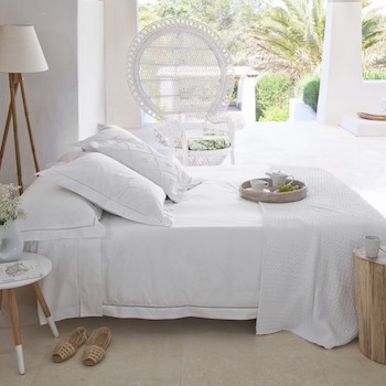 Single Bed Duvet Cover White Saria