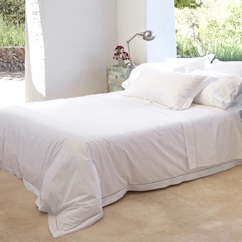Super King Duvet Cover White Saria