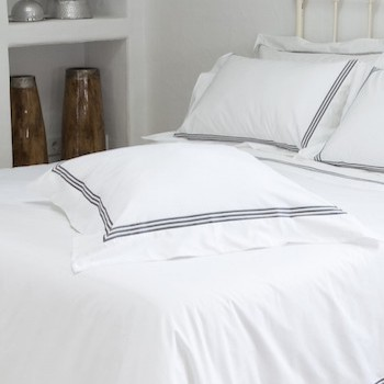 Euro oxford pillowcase white & mink Elba