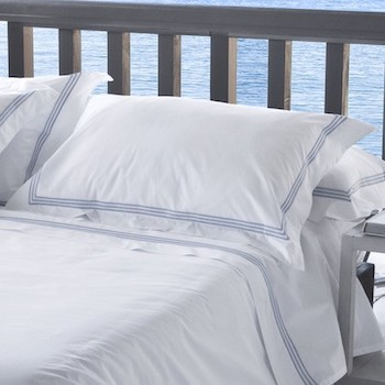 Standard oxford pillowcase white & sky Elba