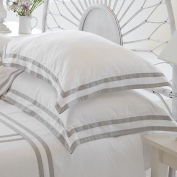 King oxford pillowcase white & ash Formentera