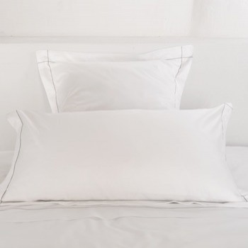 King oxford pillowcase white & stone Tremiti