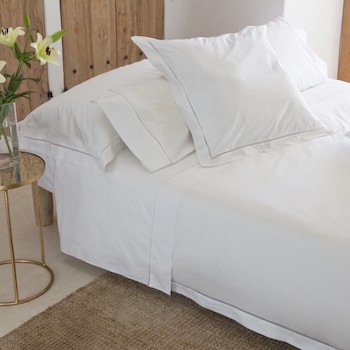 Single bed sheet set white Saria