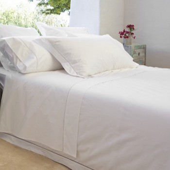 Euro king sheet set white Saria