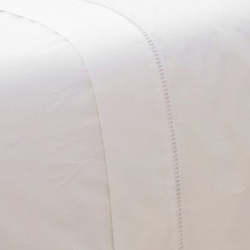 Super King Size Flat Sheet White Saria