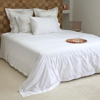 King Size Fitted Sheet 100% Egyptian Cotton White Tremiti