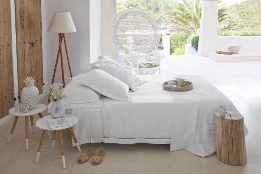 Double sheet set white Saria