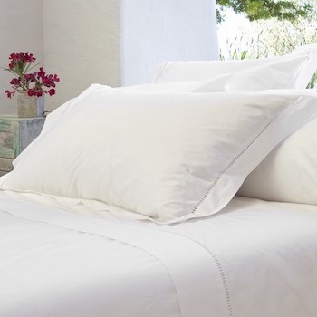 Funda almohada king estilo oxford en blanco Saria